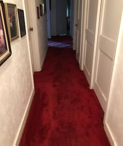 The hallway is not wide enough for a large wheelchair.