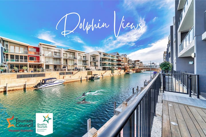 Dolphins At Your Balcony! Waterfront⎈Dolphin Quay