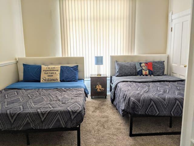 Two Queen beds in the bedroom