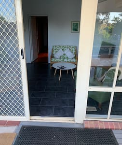 Rear access to house from ramp - with easy access through to bathroom and bedroom to the right