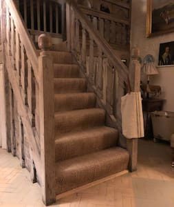 Stairs to our three bedrooms...