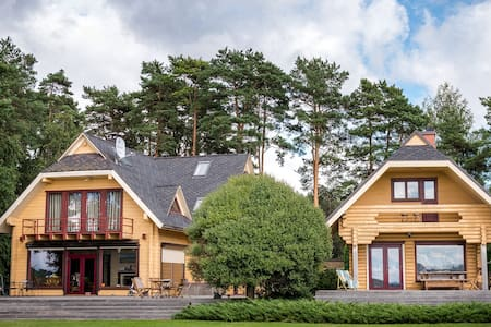 HOUSE WITH SAUNA BY THE LAKE - Дом с баней у озера