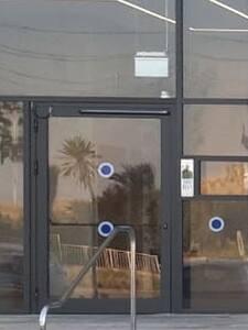 """Lobby door, opens by code, 47"""" wide"""