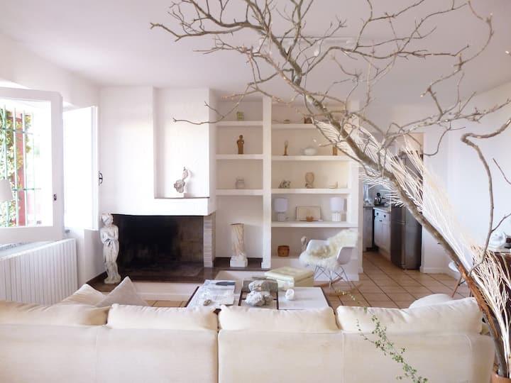 Lägenhet med veranda och havsutsikt