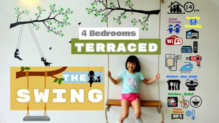 THE SWING ❤ 4BR-TERRACED #Night Market Cameron