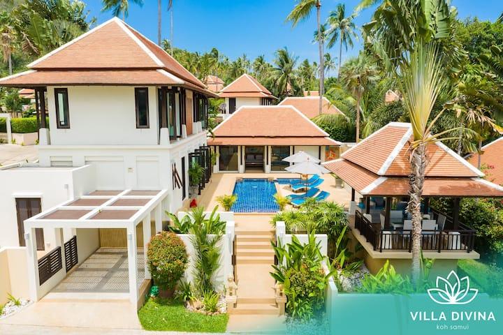 Villa Divina - Gorgeous Pool Villa 250m to Beach