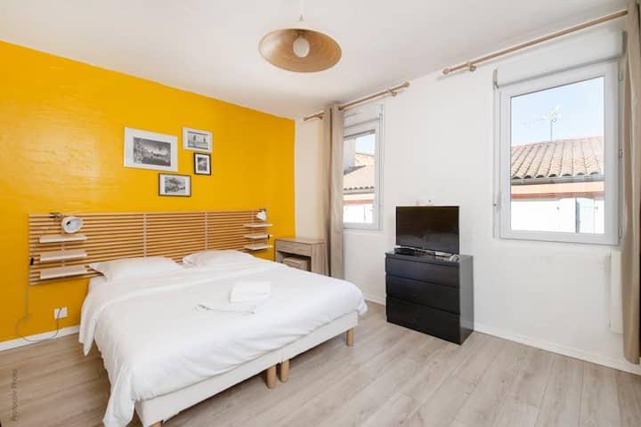 City Rosa Occitana cosy lumineux Wifi accès 24/24 - Appartements à louer à  Toulouse, Occitanie, France