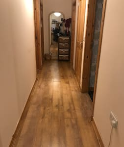 Hallway is (105cm or 41.5inches wide) This is at its narrowest!!
