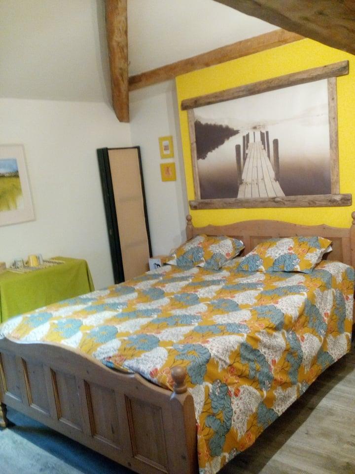 """chambre """"marais sauvage"""" tout confort ."""