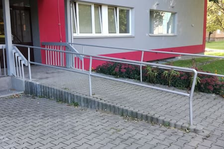 Step-free path to the guest entrance