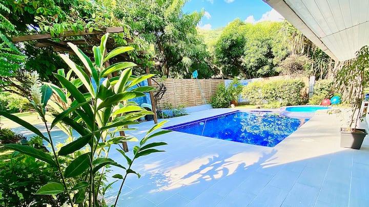 Maison cosy avec piscine, près de la plage