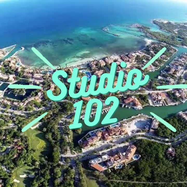 Studio with swimming pool inside Puerto Aventuras