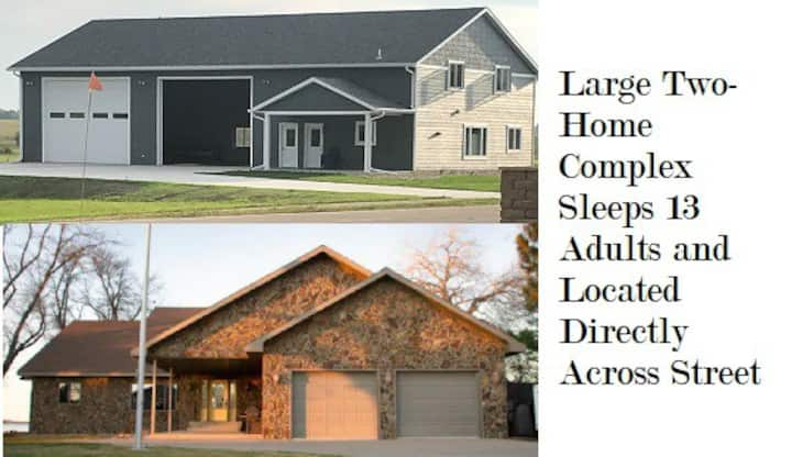 Large Two Home Lake Complex Sleeps 12 or more.