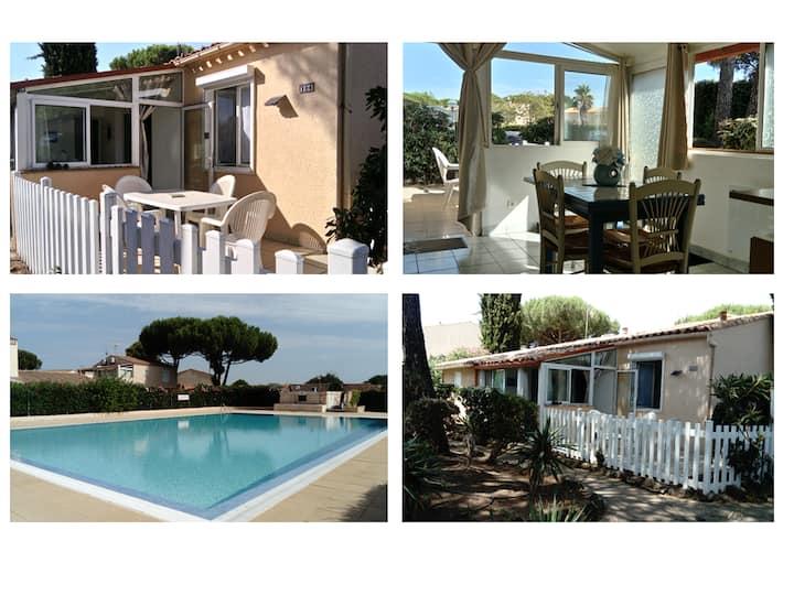 Cap d'Agde Maison 4-6 pers. piscine parking