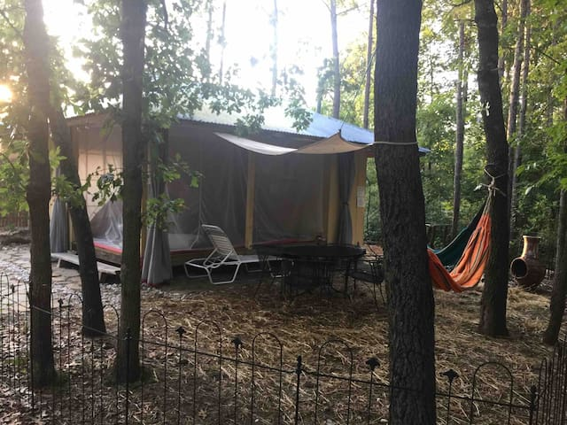 Glamping in a Private Forest