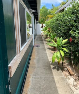 This is the walkway on the side of the house to your entrance.