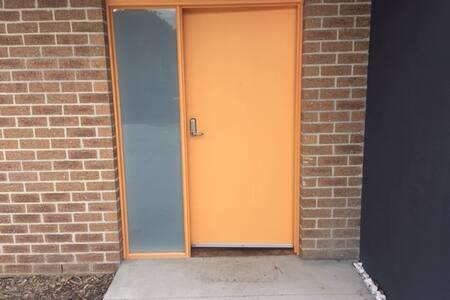 Sensor light at front door