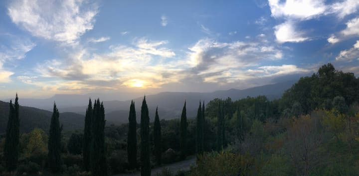Mountain isolation on eco estate, stunning views