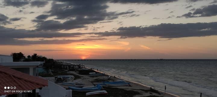 Departamento frente al mar en Progreso Yucatán.