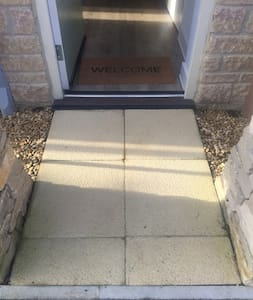 Step-free path to the outdoor entrance