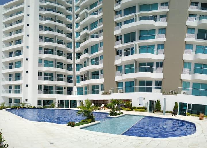 Moderno apartamento en Rodadero con vista al mar