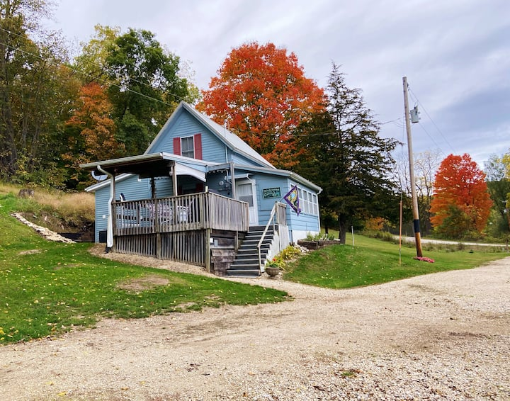 Cabin on Trout Stream & 24 Acres Near Decorah!