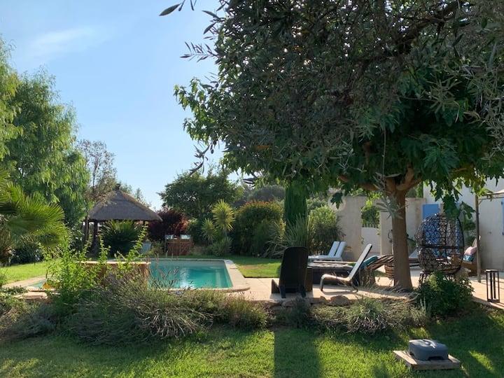 Bastide   jardin, piscine,SPA, terrain de boules