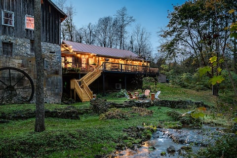 Grist Mill Cabin Overlooking Creek