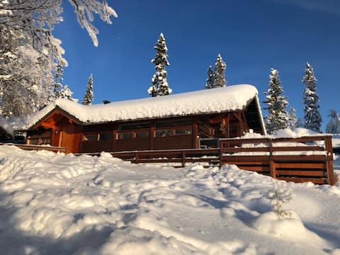 Flott hytte med badstu i Hedalen, Valdres; 920 moh