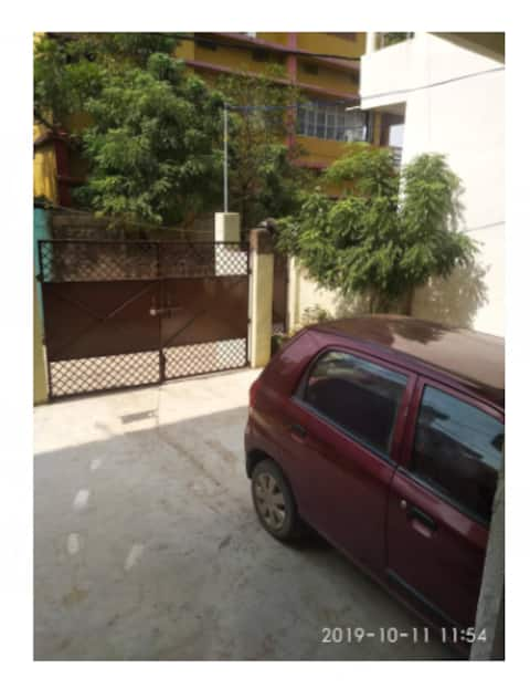 Newly built, Ac (west) 1BHK @ 2nd Floor near Ganga