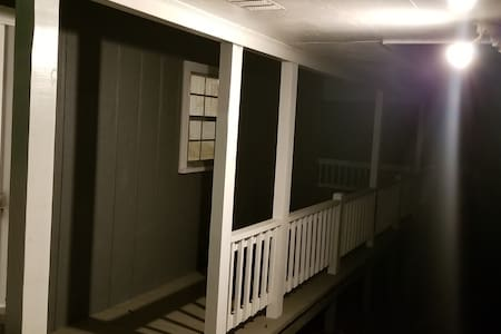 Security lights surround the home. No steps at back or front entry ways.