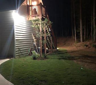 Well lit entrance.