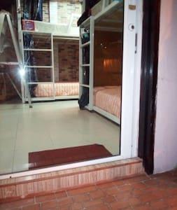 the entrance into dorm on ground floor...
