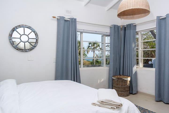 Bedroom with King Size Bed & Sea Views