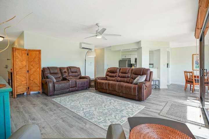 Spacious living room area. Open concept.