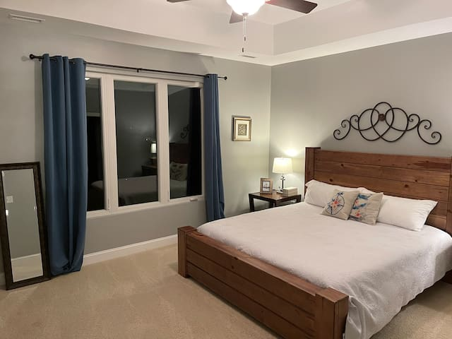 Incredible spacious master bedroom with large walk in closet and double vanity.