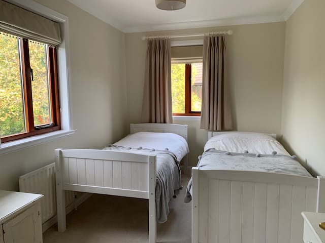 Bedroom 2, two single beds.