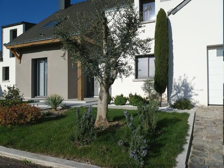 2 chambres privées à Anjou bleu Portes d'Angers.