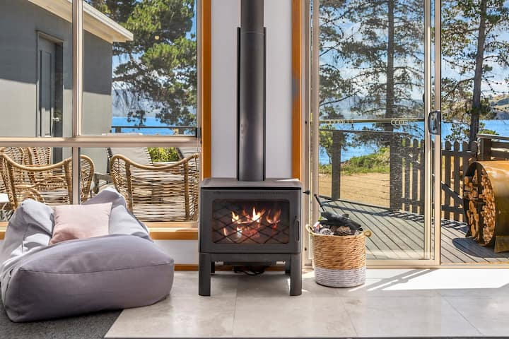 Bruny Beach Escape | Beach, wood fire, wine + wifi