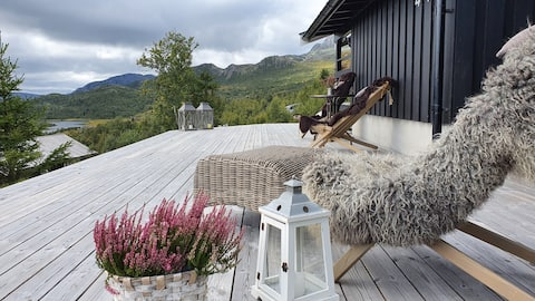 Norway, Telemark, cottage, hiking in the mountains