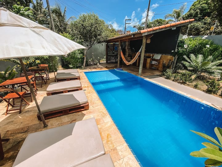 Casa privativa 2 quartos cozinha Vila Amarela Pipa