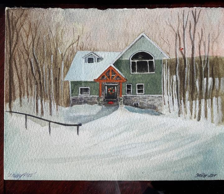 """""""The Tree House"""" Retreat near Horseshoe Valley"""