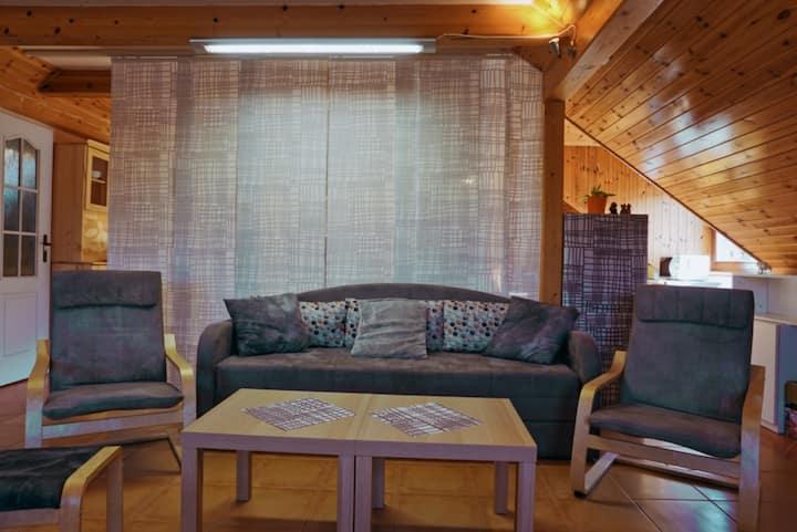 Podkrovní prostorný byt