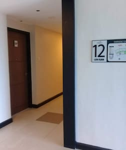 This is right outside the hallway to the main entrance of the unit.