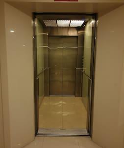hand railing inside lift