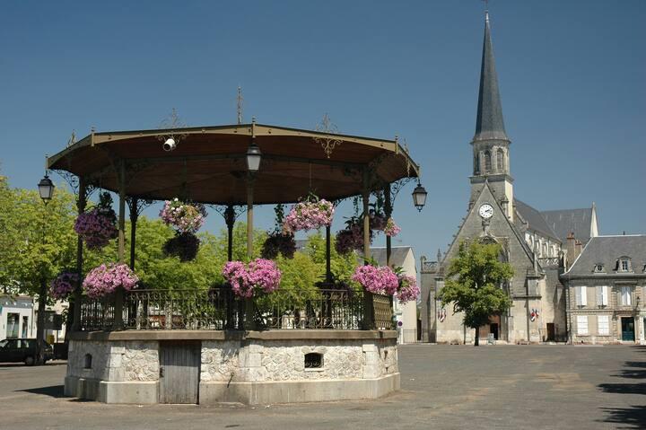Logement  proche de deux beaux villages de France.
