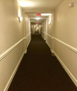 Extremely Spacious ~ 5ft. Wide Hallways lead to condo, and always remain lit.  Condo entry door is 3ft. Width.