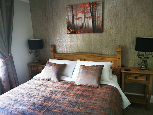 STAG ROOM 1 - Standard Room type with King size bed & Private Bathroom (Walk in shower/Toilet/Washbasin)