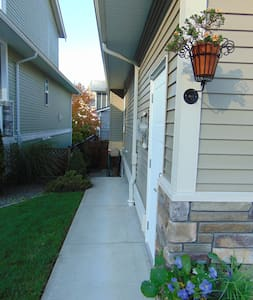 6 step to  pathway on left side of house