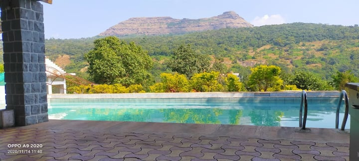 6 Furnish AC Rooms 1 Acar Private Resort With Pool